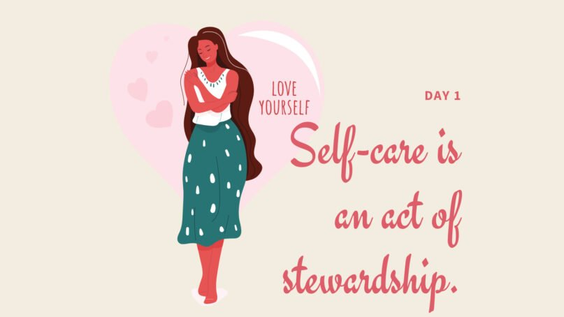 An image from Day 1 of Chanequa Walker-Barnes' self-care series for Lent. Courtesy image