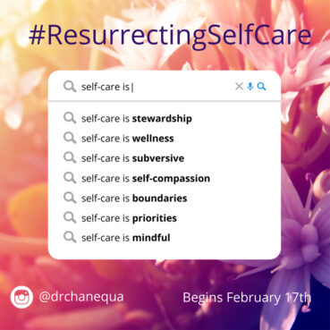 An image from Chanequa Walker-Barnes' self-care series for Lent. Courtesy image
