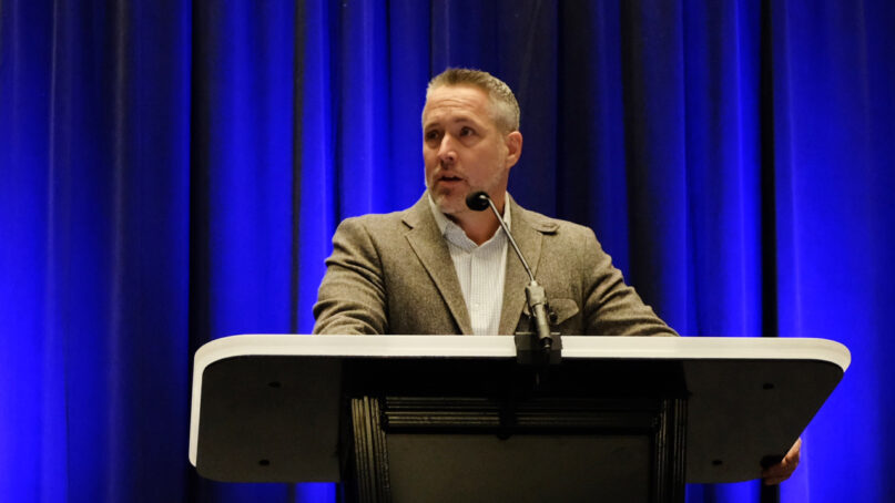 Southern Baptist Convention President J.D. Greear addresses the denomination's Executive Committee on Feb. 22, 2021, in Nashville, Tennessee. Photo courtesy of Baptist Press