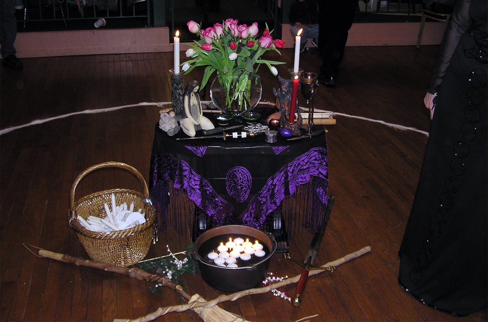 An Imbolc ritual altar. Photo by Rebecca Radcliff/Creative Commons