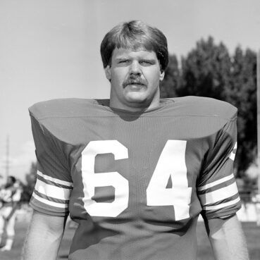 Andy Reid playing for BYU in 1981. Photo courtesy of BYU