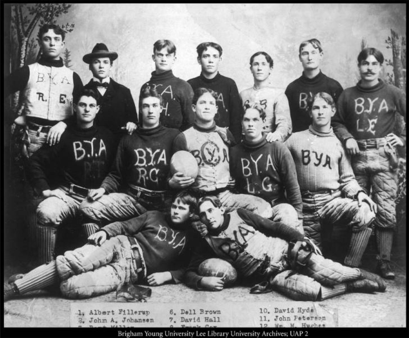 The Brigham Young Academy football team in 1897, their second year of competition. Courtesy University Archives, L. Tom Perry Special Collections, Harold B. Lee Library, Brigham Young University