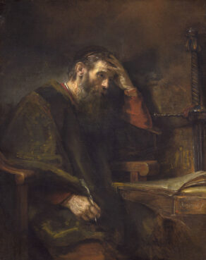 """""""The Apostle Paul"""" by Rembrandt van Rijn, circa 1657. Image courtesy of the Widener Collection/National Gallery of Art/Creative Commons"""