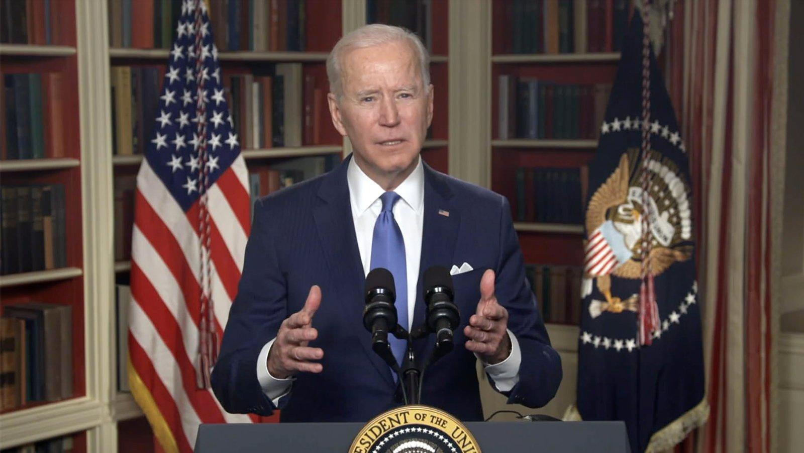 President Joe Biden addresses the the 2021 National Prayer Breakfast. Video screengrab