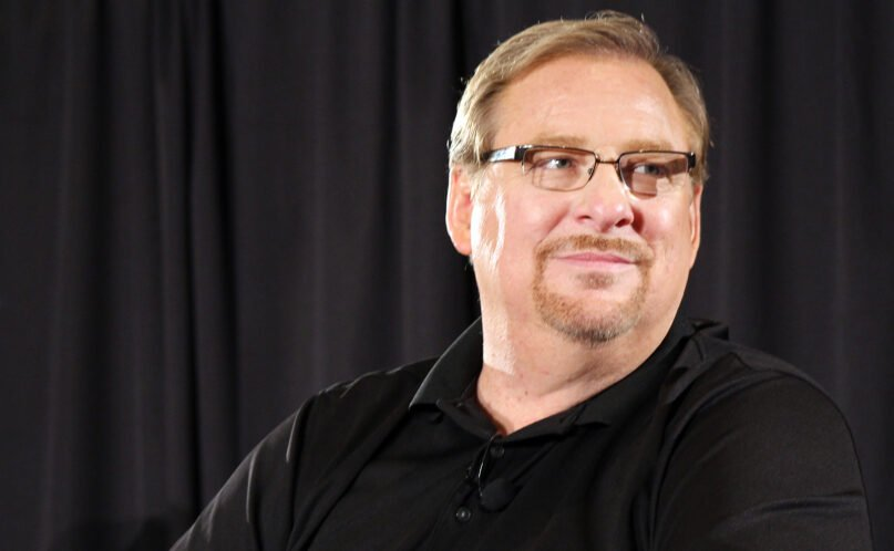 Pastor Rick Warren during a panel discussion in Baltimore in June 2014. RNS photo by Adelle M. Banks