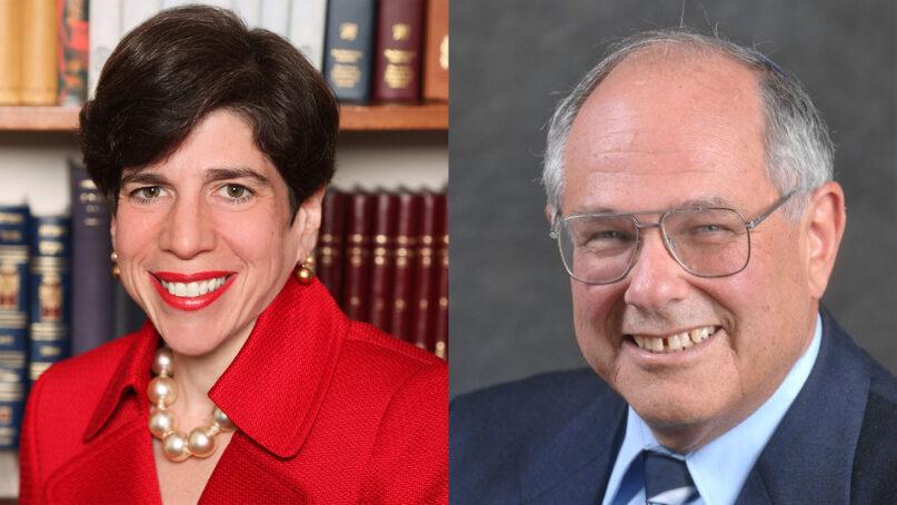 Rabbi Julie Schonfeld, left, and Rabbi Elliot Dorff. Courtesy photos