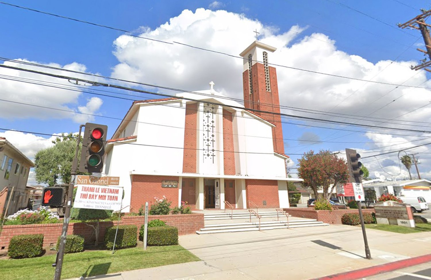 St. Anthony Catholic Church in the city of San Gabriel in Los Angeles County. Photo courtesy Google Maps