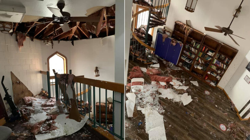 The Islamic Society of Denton recently experienced major water damage during a severe winter storm in Texas. Photos via Facebook/DentonMasjid
