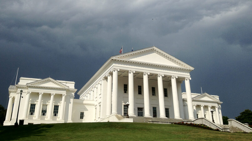 The Virginia State Capitol in Richmond, Virginia. Photo by Aldenschiller/Creative Commons