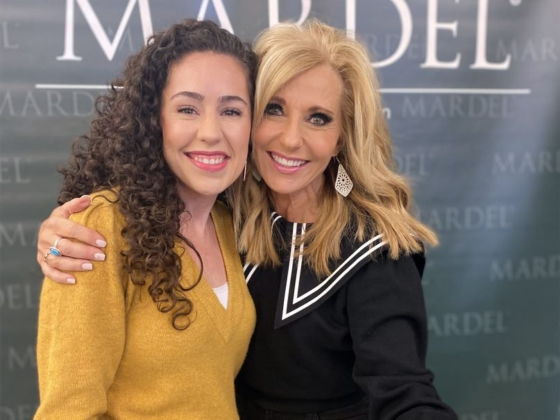 Kat Armstrong, left, with her Sunday school teacher, Beth Moore. Photo courtesy of Kat Armstrong