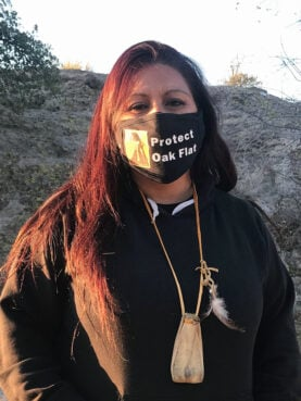 Vanessa Nosie, along with her father Wendsler Nosie Sr., has been leading efforts to stop the transfer of Oak Flat. RNS photo by Alejandra Molina