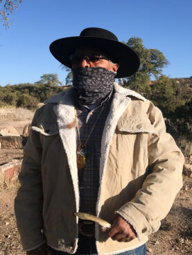 Jerry Thomas, who is Navajo, said he often goes to Oak Flat to pray to Creator. It's where he prays for his family and asks for forgiveness. RNS photo by Alejandra Molina