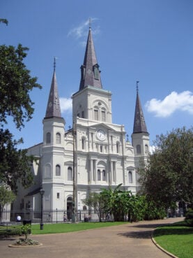St. Louis Cathedral in New Orleans, the seat of the Archdiocese of New Orleans. Photo by Infrogmation/Creative Commons