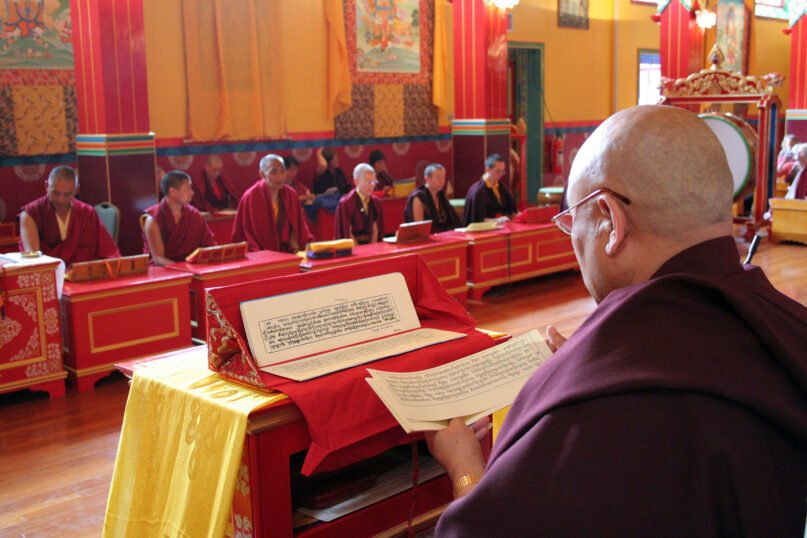 Prayers are held at the Kagyu Samye Ling Monastery and Tibetan Centre in Eskdalemuir, Scotland, in April 2013. Photo by Iain Harper/Creative Commons