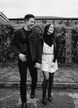Kolby Koloff, right, and her fiancee, Andrew Knell. Photo by Julia Cox