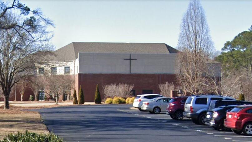 Crabapple First Baptist Church in Milton, Georgia. Image via Google Maps