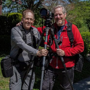 Photographers Joel Hoffman, left, and Roy Sewall. © Joel Hoffman, courtesy DC History Center