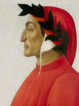 Portrait of Dante, painting from 1495 by Sandro Botticelli. Image courtesy of Wikimedia Commons/Creative Commons