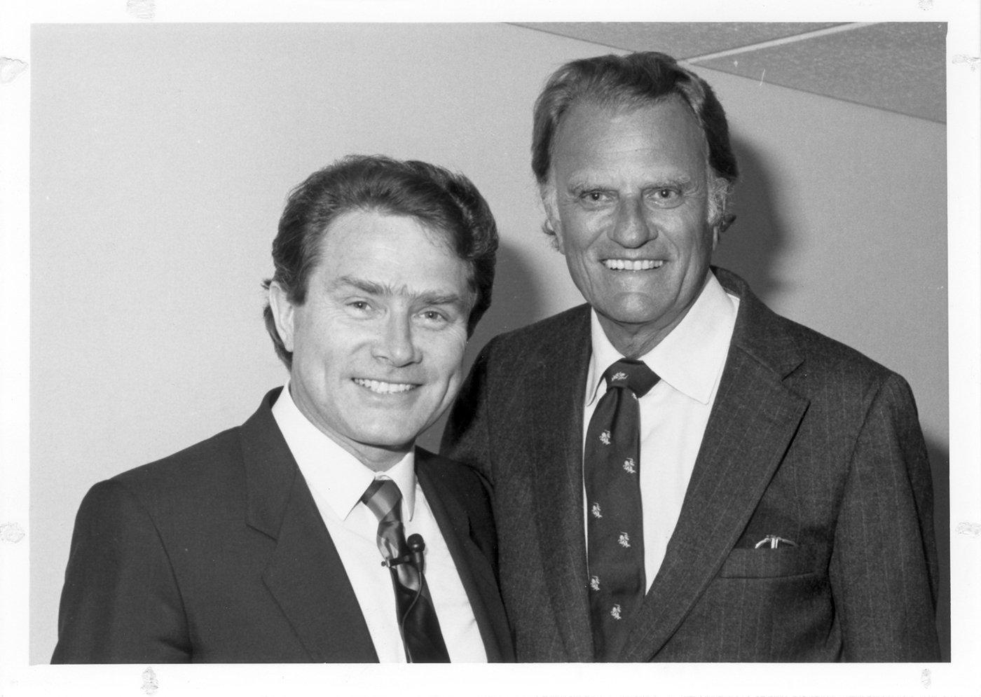Luis Palau and Billy Graham. Photo courtesy of the Luis Palau Association