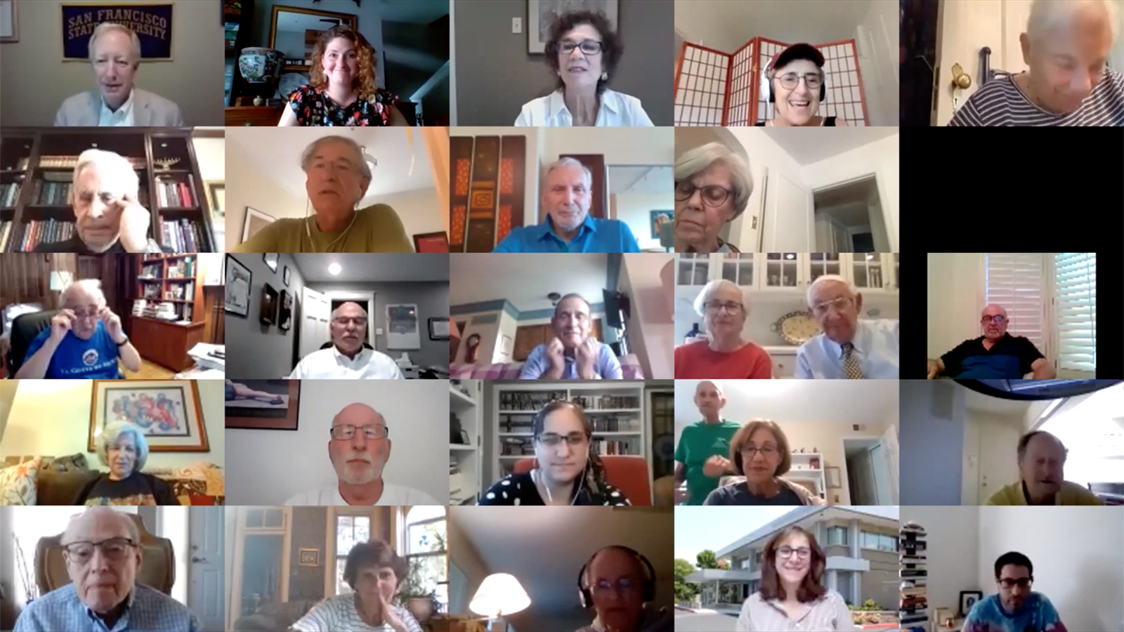 Marc Dollinger, top left, participates in a virtual presentation with the JCRC of St. Louis in 2020. Video screengrab