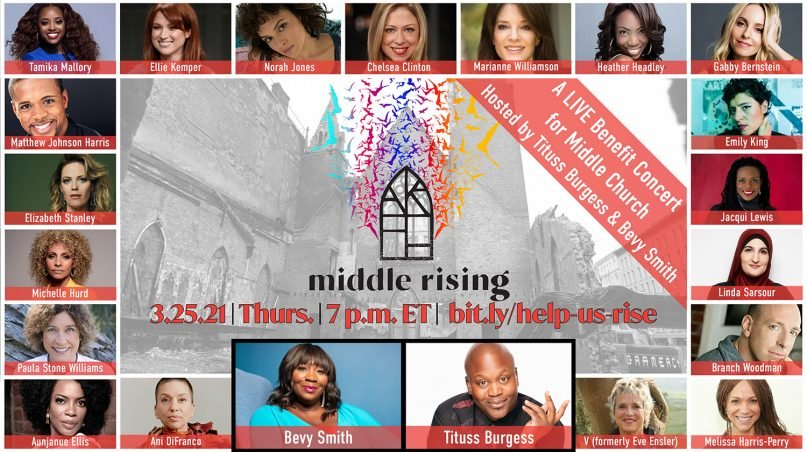 Middle Church is hosting a benefit concert live to raise money for the rebuilding of the church. Image courtesy of Middle Church