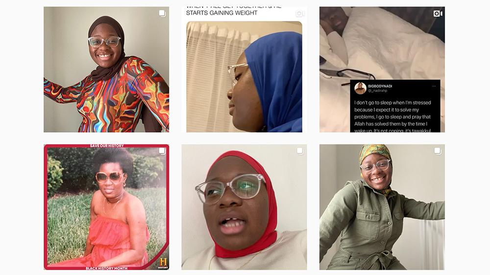 Posts on Nadirah Pierre's Instagram feed. Screengrab