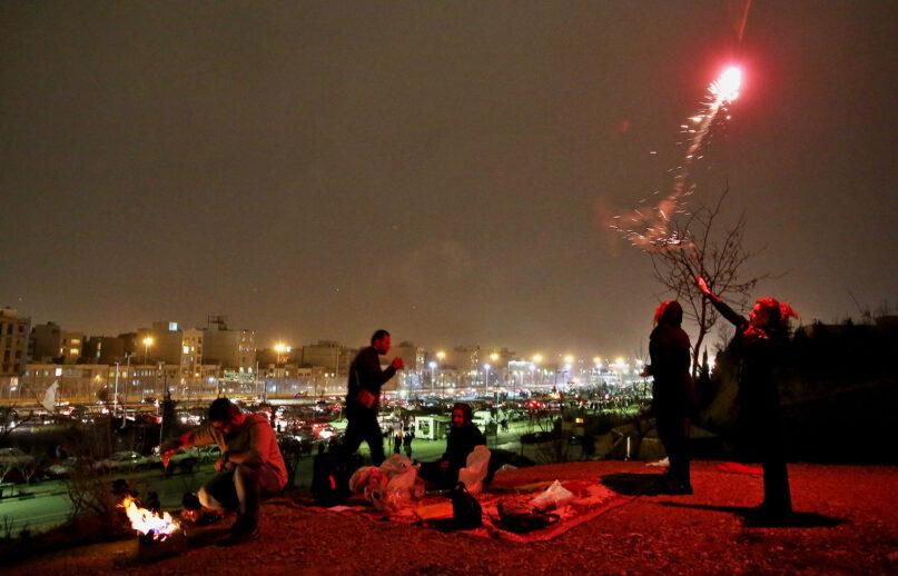 The celebration of Nowruz in Tehran, Iran, in 2014. (AP Photo/Ebrahim Noroozi)