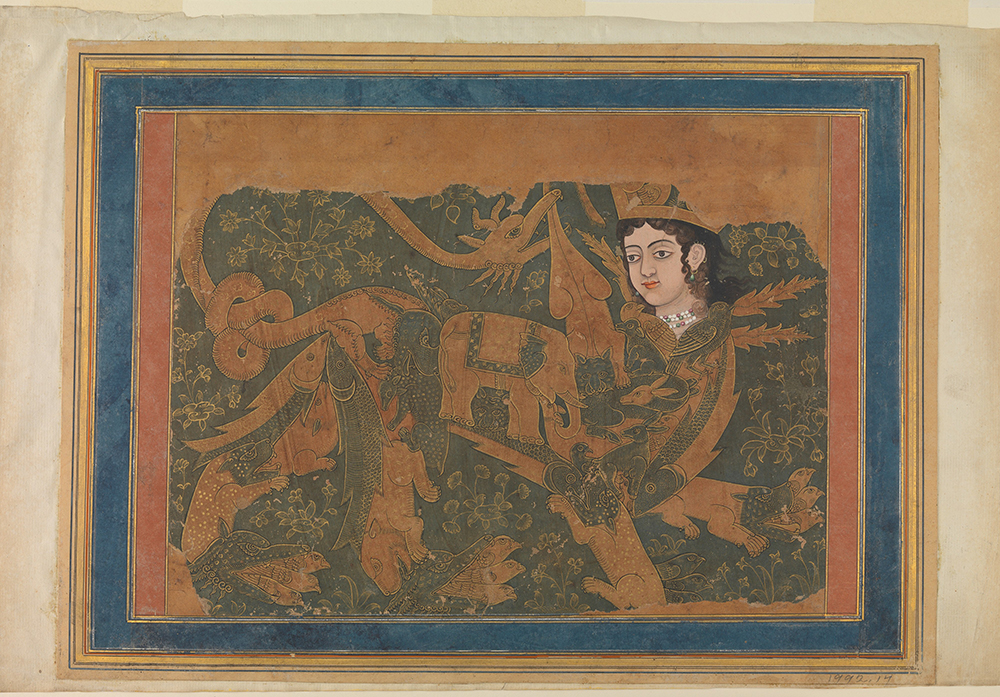 The mythical creature al-Buraq, on which Muhammad is supposed to have made his journey to heaven. Image courtesy of Creative Commons. Metropolitan Museum, Purchase Rogers Fund, Elizabeth S. Ettinghausen Gift, in memory of Richard Ettinghausen, and Ehsan Yarshater Gift, 1992.