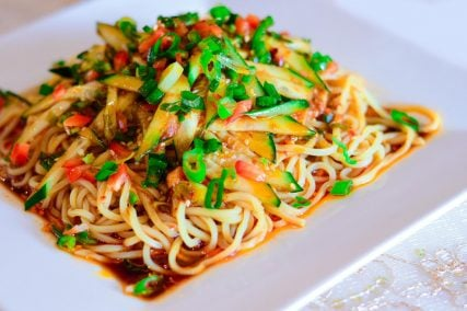 Cold Noodles are one of several appetizers available at the restaurant. Image courtesy of Bugra Arkin