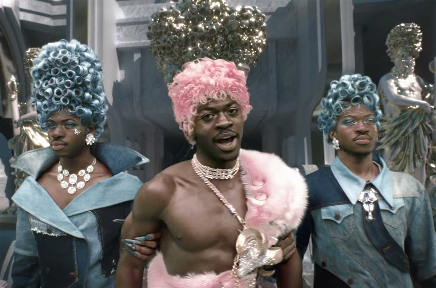 """Still from Lil Nas X's """"Montero (Call Me By Your Name)"""" video, directed by Lil Nas X and Tanu Muino. Video screengrab"""