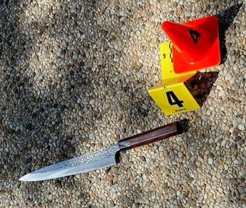 A knife allegedly used in an attaack at the Capitol on Friday, April 2, 2021. Photo via Metropolitan Police Department