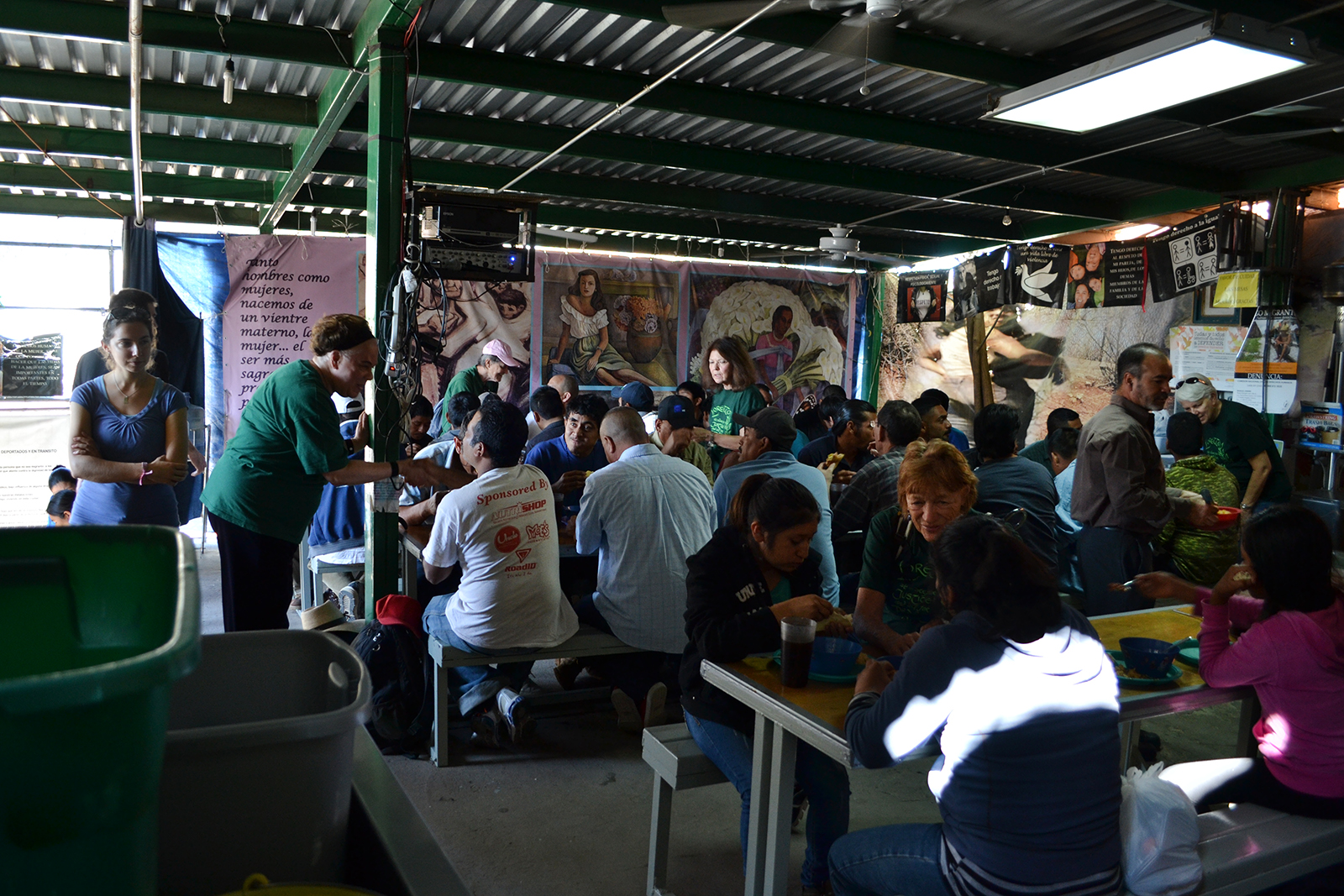 Migrants are served at the Kino Border Initiative in Nogales, Mexico, in 2014. Photo by National Farm Worker Ministry/Creative Commons
