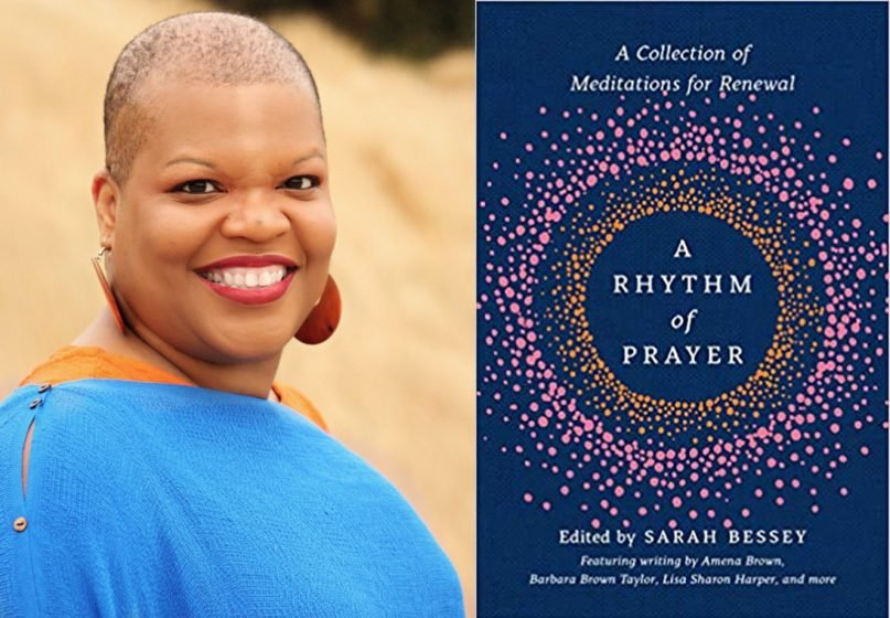 """Dr. Chanequa Walker-Barnes, left, has drawn recent attention from a poem of hers included in the book """"A Rhythm of Prayer: A collection of Meditations for Renewal"""". Image courtesy of drchanequa.com, and Amazon"""