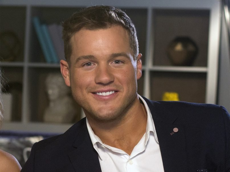 """Colton Underwood from the reality series """"The Bachelor"""" appears during an interview in New York on March 13, 2019. Underwood, the former football tight end who found fame on """"The Bachelor,"""" has revealed that he is gay. (AP Photo/Gary Gerard Hamilton, File)"""