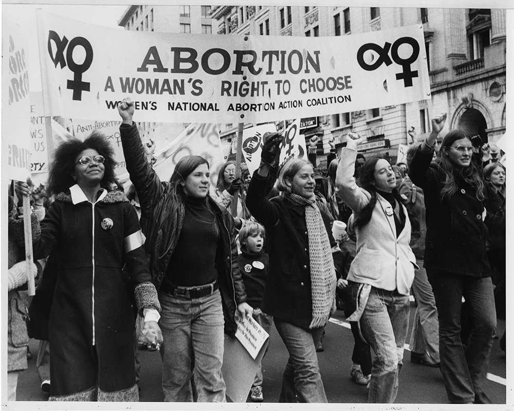 Women carry a banner as they march down Pennsylvania Avenue in a pro-abortion rally in Washington, D.C., in November 1971. About 2,500 attended the demonstration urging the repeal of laws prohibiting abortions. The rally organizers had hoped for 10,000 attendees. RNS archive photo. Photo courtesy of the Presbyterian Historical Society.