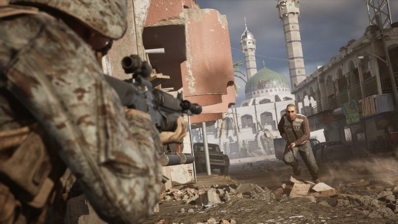 """A still from the """"Six Days in Fallujah"""" video game. Image courtesy of Victura"""