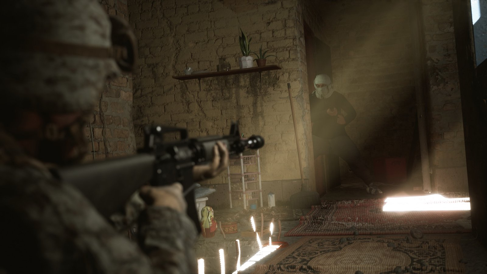 """A still from the video game, """"Six Days in Fallujah."""" Image courtesy Victura"""