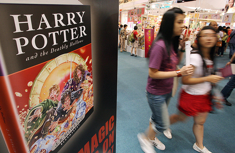 The seven Harry Potter fantasies are the world's best-selling book series, with more than 500 million novels sold since the first story was published in 1997. (Mike Clarke/AFP via Getty Images)