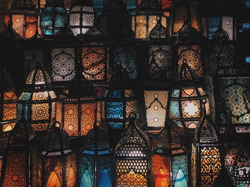 Ramadan lanterns are displayed for sale. Photo by Rawan Yasser/Unsplash/Creative Commons