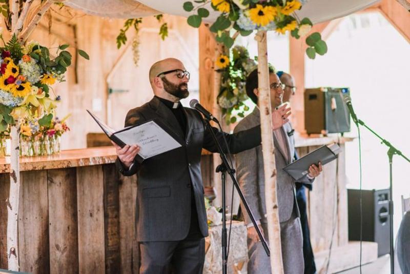 The Rev. Jason Lydon officiates a wedding. Courtesy photo