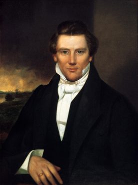 Portrait of Joseph Smith Jr., founder of the Church of Jesus Christ of Latter-day Saints, circa 1842. Image courtesy Community of Christ/Creative Commons