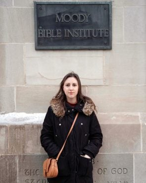 Megan Steffen at Moody Bible Institute. Photo by Kevin Troung
