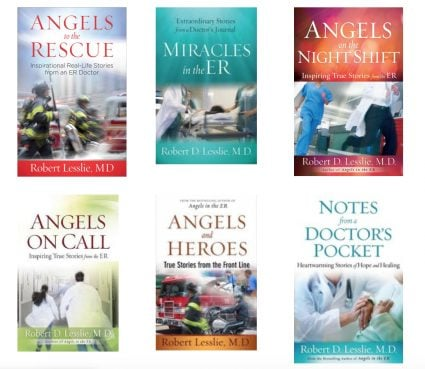 Robert Lesslie wrote a number of books including medical help books and a series of books reflecting on real-life stories from the ER. Image courtesy of robertlesslie.com