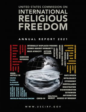 The 2021 United States Commission on International Religious Freedom Annual Report. Courtesy image