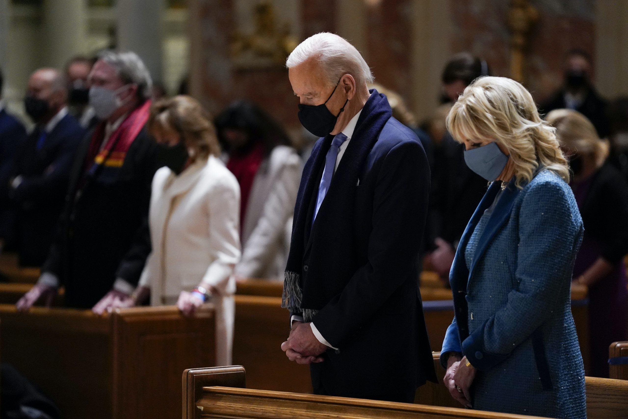 President Joe Biden's progressive values jar with the conservatism of some Catholic bishops. (AP Photo/Evan Vucci)