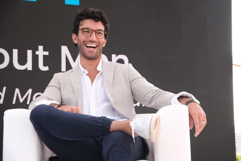 Actor and producer Justin Baldoni discusses how storytelling can help us all move forward with a progressive definition of masculinity on Tuesday, June 18, 2019 in Cannes, France. (Philippe Farjon/AP Images for Procter & Gamble)