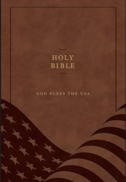 The cover of the God Bless the USA Bible. Photo courtesy of Hugh Kirkpatrick