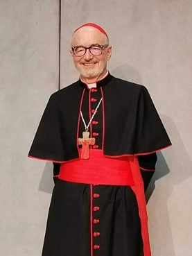 Cardinal Michael Czerny on Thursday, May 6, 2021. RNS photo by Claire Giangravé