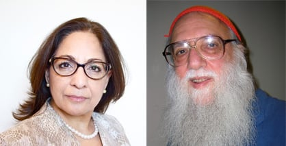 Daisy Khan, left, and Rabbi Arthur Waskow. Images courtesy of WISE, and Wikimedia/Creative Commons