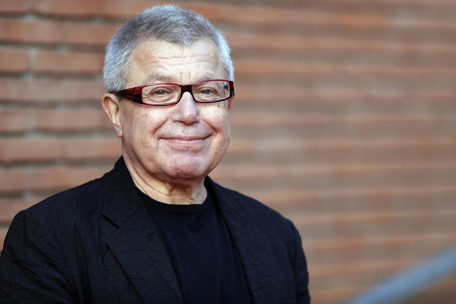 Architect Daniel Libeskind arrives for a conference at the Rome Film Festival, in Rome, on Oct. 21, 2016. (AP Photo/Andrew Medichini)